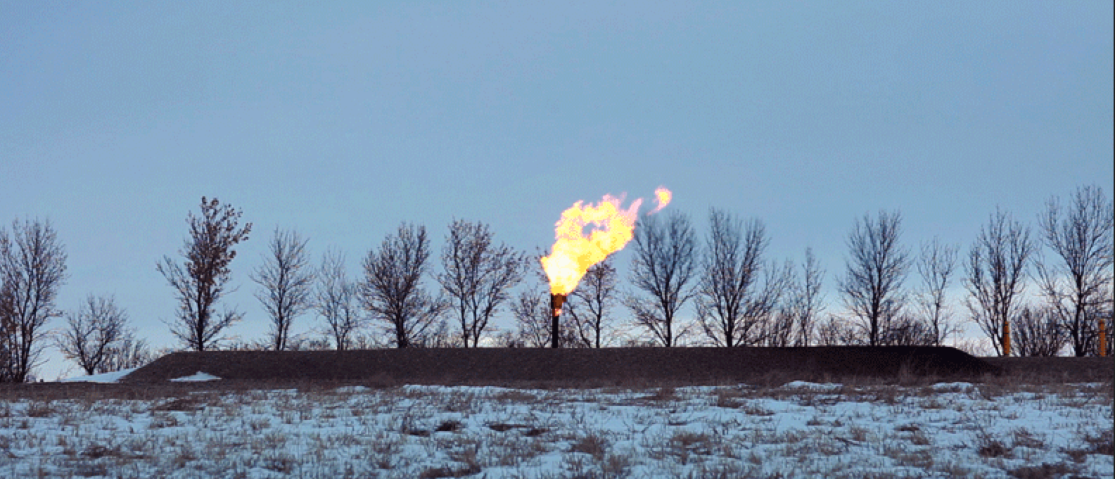 Natural gas-well ablaze